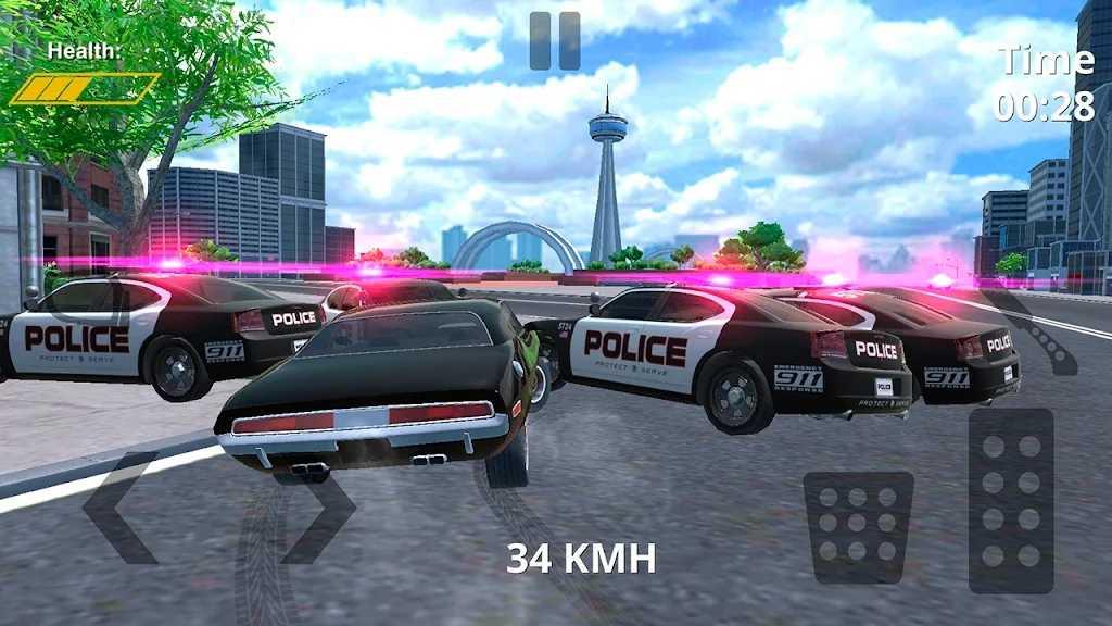 警察追逐赛车模拟器