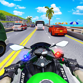 警察摩托公路赛车