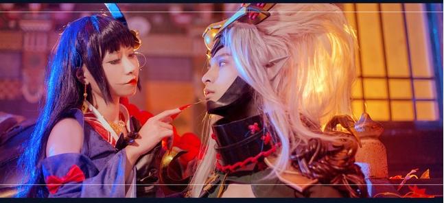 阴阳师酒吞×红叶cosplay 阴阳师同人cosplay高清分享
